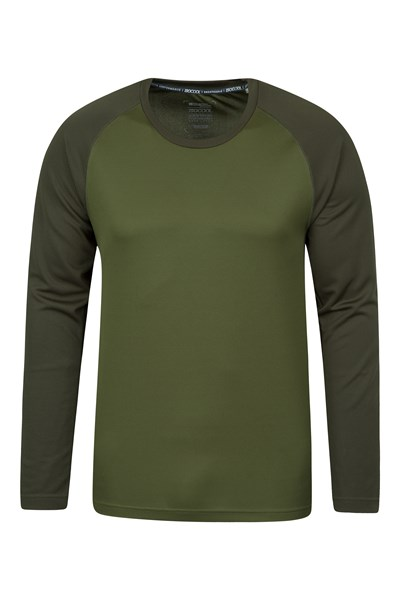 Endurance Mens Long Sleeved Top - Green