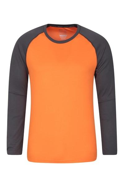 Endurance Mens Long Sleeved Top - Orange