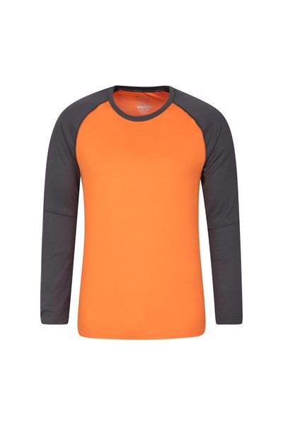Endurance Mens Long Sleeved Top - Orange
