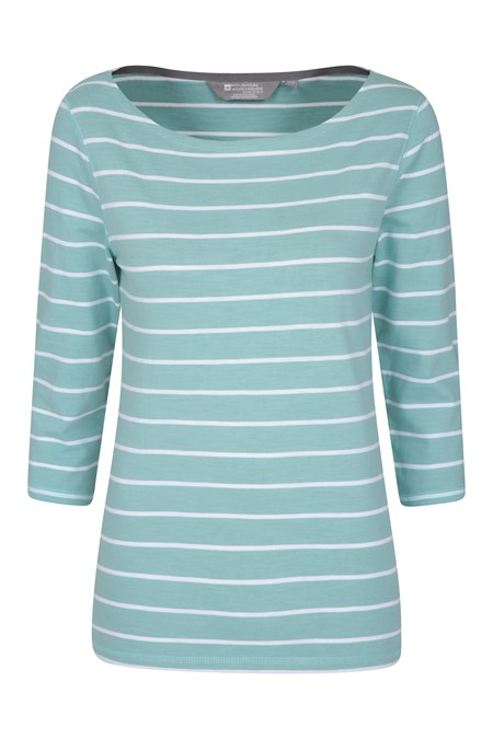 022598 ST IVES STRIPE COTTON BOAT NECK TOP