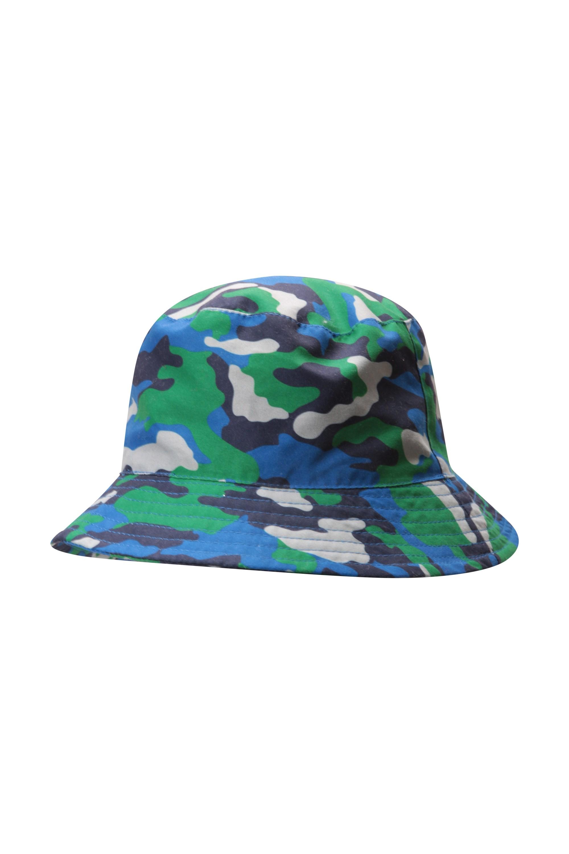 Printed Kids Bucket Hat - Blue