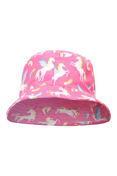 Printed Kids Bucket Hat - Pink