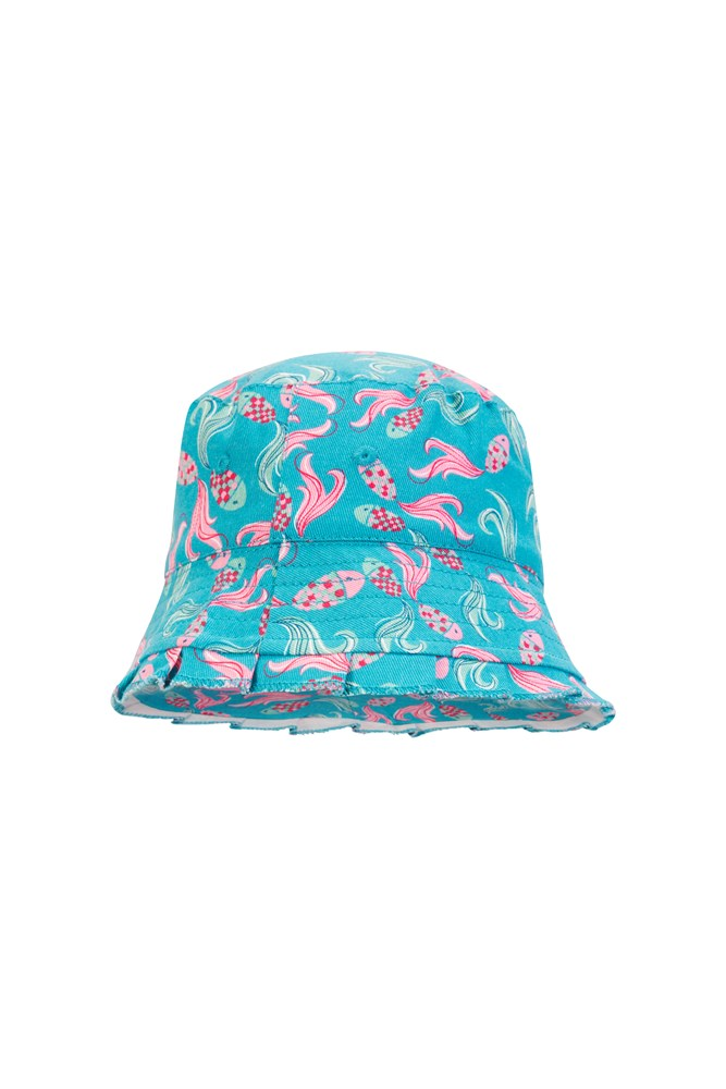Printed Kids Bucket Hat - Teal