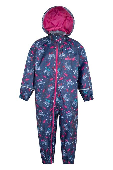 The Mountainlife Kid's Puddle Waterproof Rain Suit is a brilliant item for very young kids and is available for children from 6 months to 2 years old. The Kid's Puddle Waterproof Rain Suit is fully waterproof with taped seams to offer protection from the wet weather.