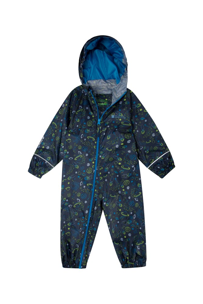 Waterproof Childrens Rain Coat Breathable Puddle Kids Printed Rain Suit