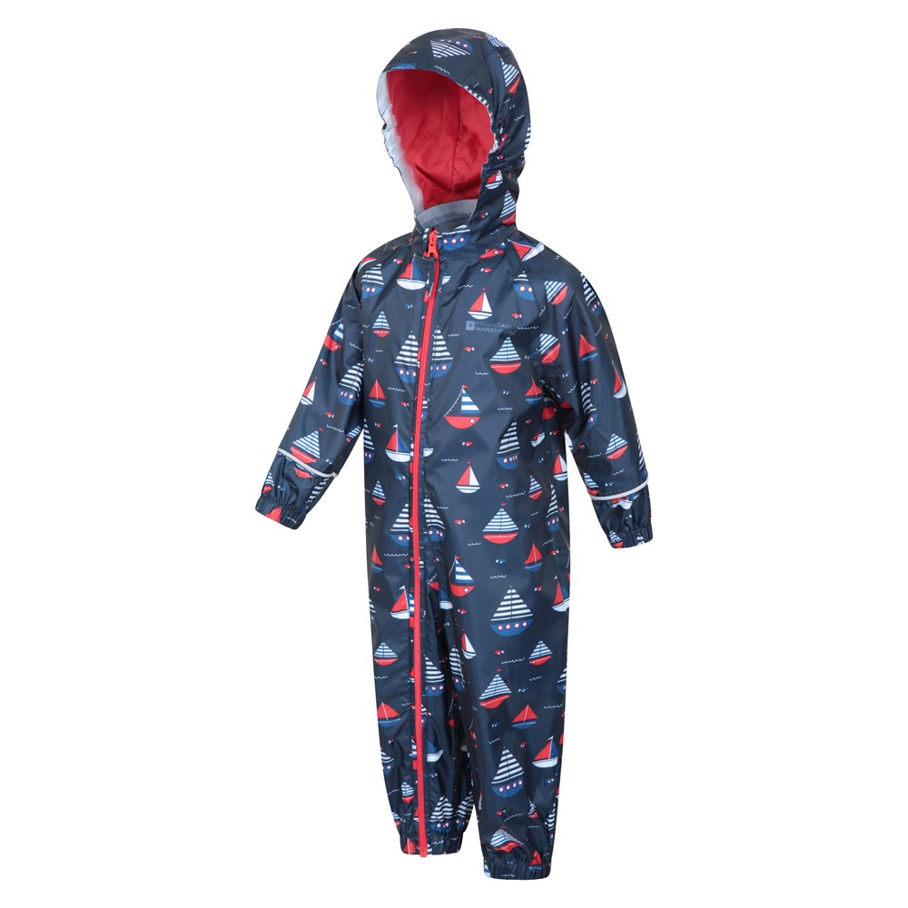 Mountain-Warehouse-Kids-Puddle-Waterproof-Rain-Suit-All-In-One-Toddlers-Children thumbnail 23