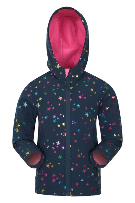 022691 EXODUS KIDS PRINTED WATER RESISTANT SOFTSHELL