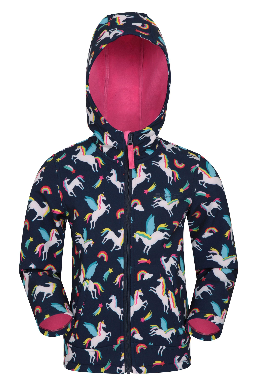 Kids Winter Jacket 3 in 5 Waterproof Softshell Coat Hooded Outerwear