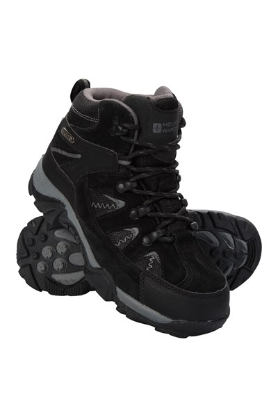 Rapid Waterproof Kids Walking Boots - Black
