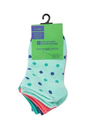 Spot Girls Trainer Socks - 5 Pack