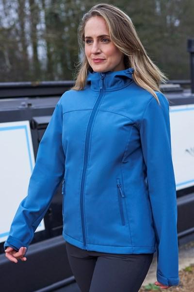 Exodus Womens Softshell Jacket - Blue