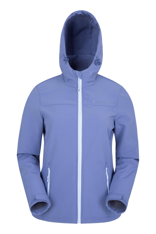 Exodus Womens Water Resistant Softshell Jacket - Blue