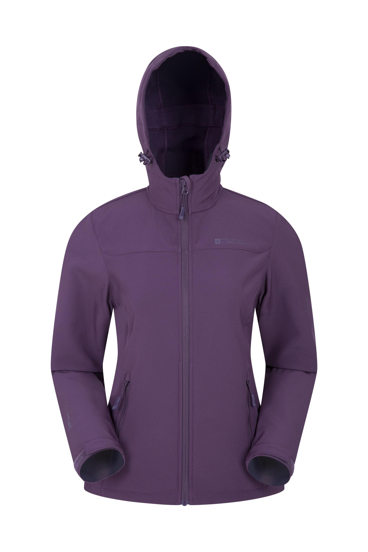 Exodus Womens Water Resistant Softshell Jacket - Purple
