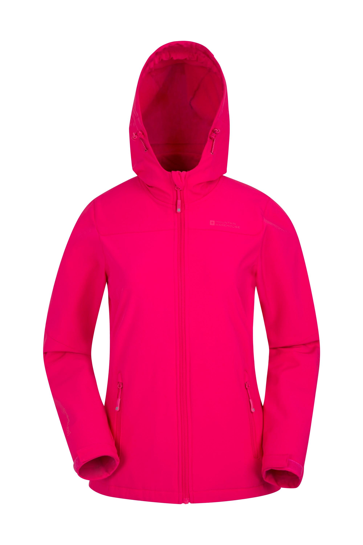 Exodus Womens Water Resistant Softshell Jacket - Pink