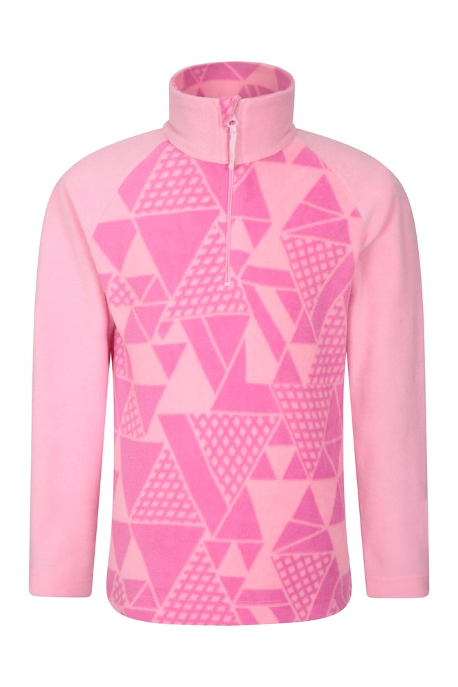 Endeavour Kids Printed Fleece - Pink