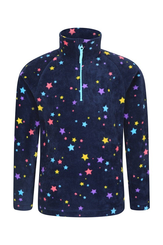 Endeavour Kids Printed Fleece - Navy