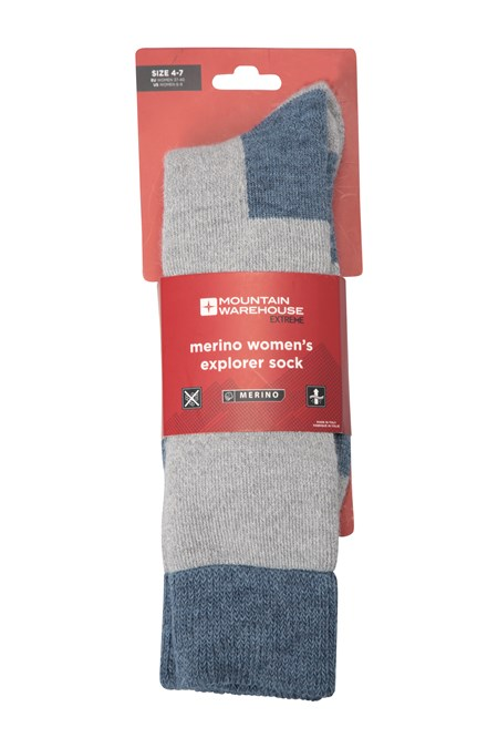 022841 MERINO WOMENS EXPLORER SOCK