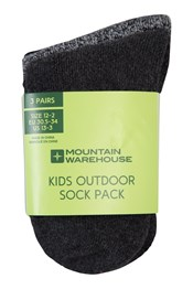 Outdoor Kids Walking Socks - 3 Pack