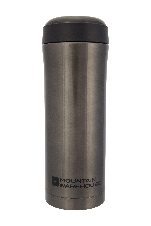 Thermal Vacuum Double Walled Travel Mug - 400ml - Grey
