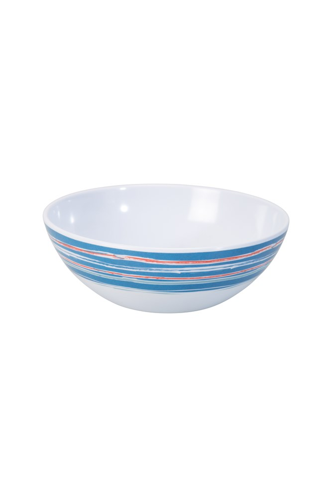 Melamine Picnic Bowl - Navy/ Red/ Green/ Yellow
