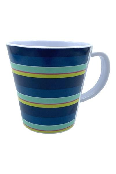 Melamine Picnic Mug - Navy/ Red/ Green/ Yellow