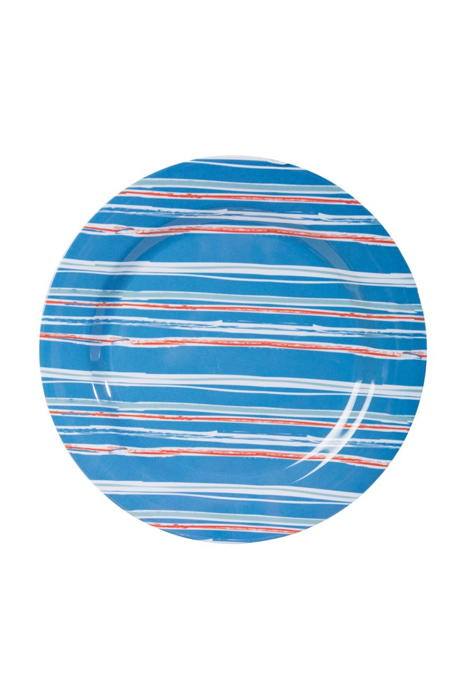 Melamine Picnic Plate - Navy/ Red/ Green/ Yellow