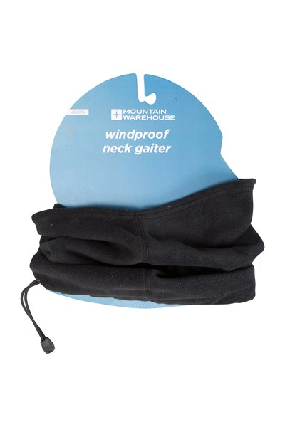 Windproof Neck Gaiter - Black
