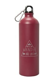 1L Printed Metallic Bottle With Karabiner