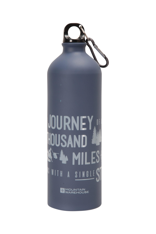 Water Bottle /& Carabiner Details about  /Mountain Warehouse 1L Metallic Bottle