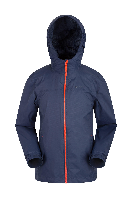Mountain Warehouse Torrent Wasserdichte Kinderjacke regenfester Mantel Jungen