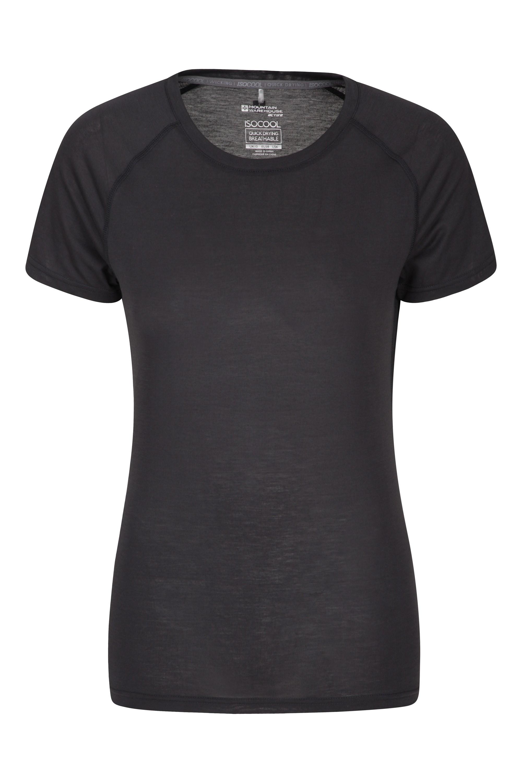 IsoCool – techniczny T-shirt damski - Black