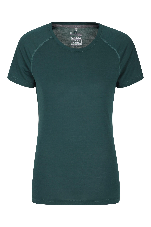 IsoCool – techniczny T-shirt damski - Green