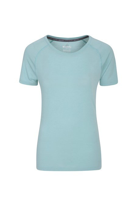 023039 QUICK DRY WOMENS SS ROUND NECK TEE