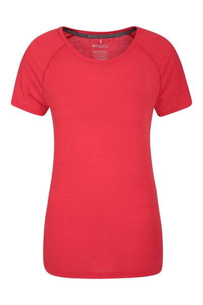 IsoCool Womens Technical T-Shirt - Red