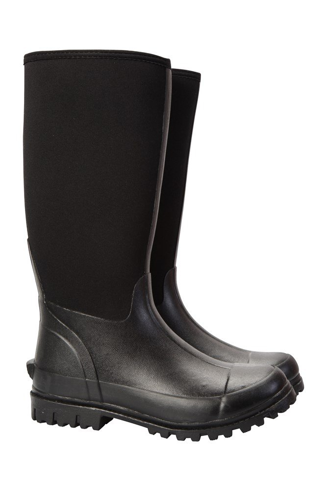 Neoprene Mucker Mens Long Boot - Black