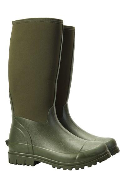 Mens Neoprene Long Mucker Boots - Green