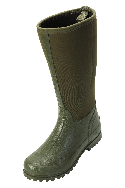 Mountain Warehouse Botas de Agua de Estilo Informal Neoprene Mucker para Hombre Botas de Agua Impermeables Viajar Resistentes Zapatos robustos para Caminar