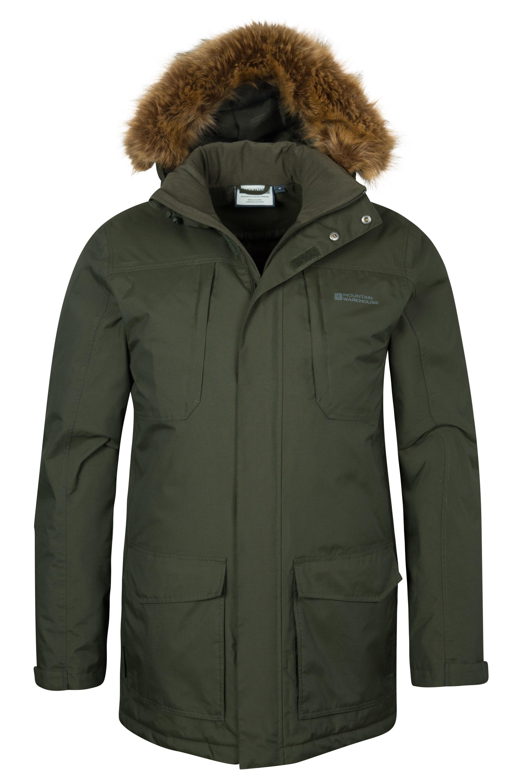 Canyon Mens Long Waterproof Jacket | Mountain Warehouse EU