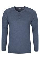 Henley Mens Long Sleeve Top