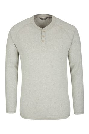 Henley Mens Long Sleeve Top