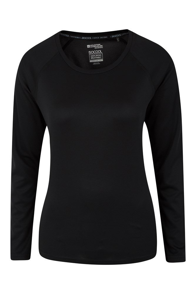 Endurance Womens Long Sleeve Top - Black