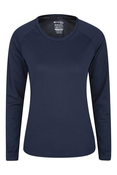 Endurance Womens Long Sleeve Top - Dark Blue