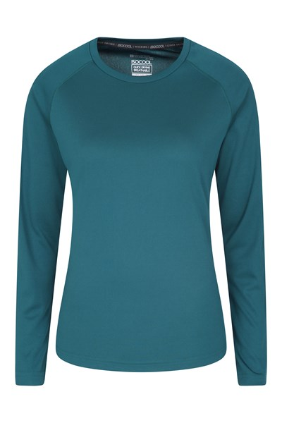 Endurance Womens Long Sleeve Top - Green