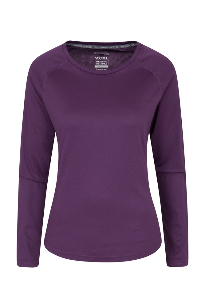 Endurance Womens Long Sleeve Top - Purple