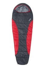 Red Left Zip RRP £69.99 Mountain Warehouse Summit 300 Sleeping Bag NEW