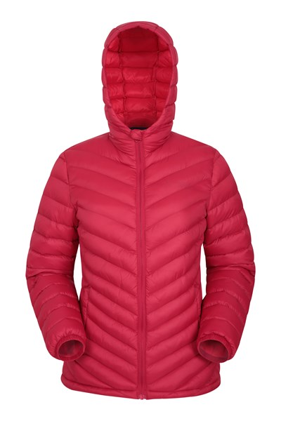 Seasons Womens Padded Jacket - Dark Red