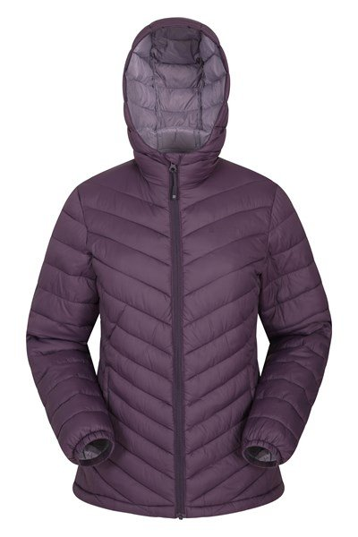 Seasons Womens Padded Jacket - Purple