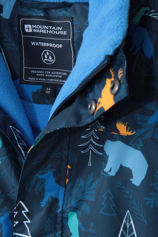 Hiver Doublure Polaire Genoux Renforc/és Ajustable Coutures thermosoud/ées Id/éale pour Le Ski Mountain Warehouse Combinaison de Neige Enfants Cloud Imperm/éable