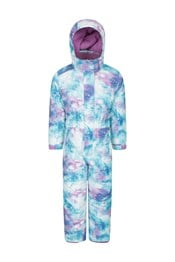 Cloud Printed Kids All in One Snowsuit