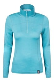 Lightweight Womens Zip Neck Top